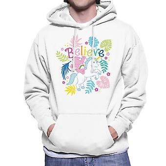 Care Bears Cheer Bear Unicorn Believe Men's Hooded Sweatshirt