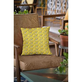 כרית/כרית בדוגמת צהובה חמודה