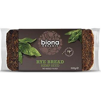 Biona Organic Rye Pain de chanvre 500g x6