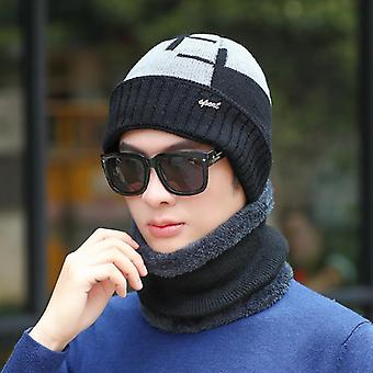Wool Knitted Winter Scarf Hat/women - Skullies Beanies Winter Cap