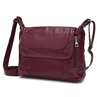 Leather Shoulder Crossbody Bag, Messenger Handbags
