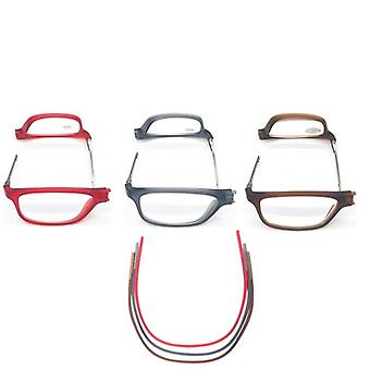 Adjustable Hanging Neck And Permanent Magnetic Portable Reading Glasses