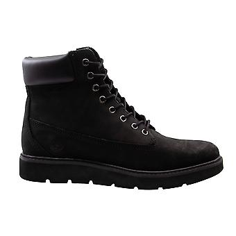 Timberland Kenniston 6 Inch Black Nubuck Leather Lace Up Womens Boots A15TM