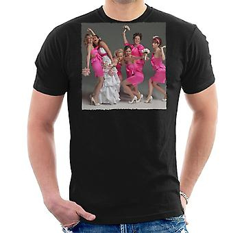 Bridesmaids Bridal Party Wacky Wedding Photo Men's T-Shirt