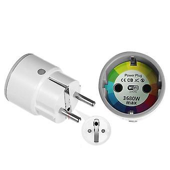 Mini Standard 16a Eu Smart Wifi Plug com monitor de energia