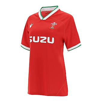 Macron Wales Rugby Womens Home Replica Shirt | Red | 2020/21