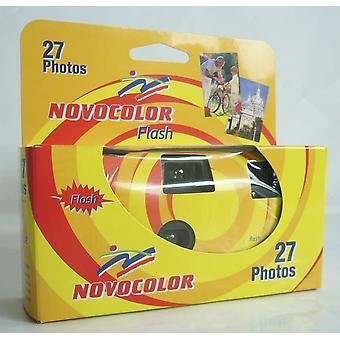 Ap apm401004 câmera descartável com flash multicolorido