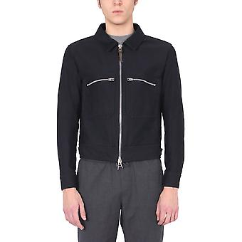 Tom Ford Bw028tfo301b09 Hombres's Blue Cotton Outerwear Chaqueta