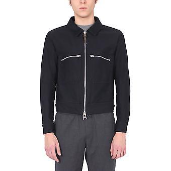 Tom Ford Bw028tfo301b09 Herren's Blaue Baumwoll-Outerwear Jacke
