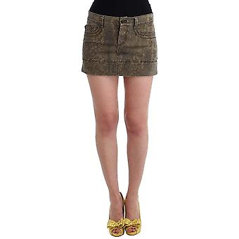 Brown cotton mini skirt