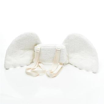 Angel Wings Plush Backpack, Anime Soft Cosplay Bag, Soft, Kids, School Wallet