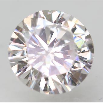 Certified 0.52 Carat D VVS2 Round Brilliant Enhanced Natural Loose Diamond 4.99m