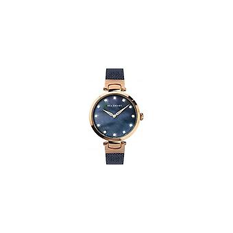 Accurist 8305 Contemporary Rose Gold & Blue Ladies Watch