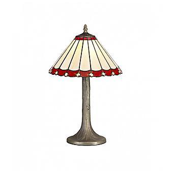 Lámpara De Mesa Tiffany Calais 1 Bombilla Roja 41 Cm