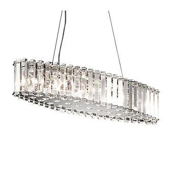 Lámpara Colgante Crystal Skye, Ovalada, 8 Bombillas