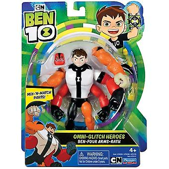 Ben 10 action figure - four arms omni glitch for ages 4+