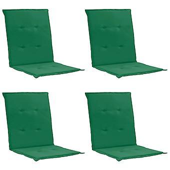 vidaXL hage stol utgave 4 stk. grønn 100 x 50 x 3 cm