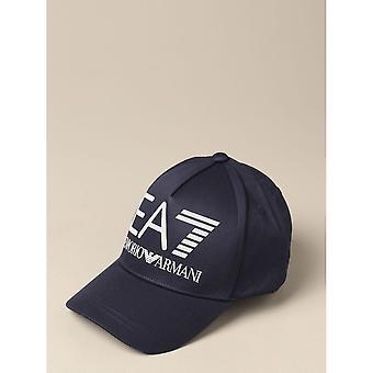 Emporio Armani EA7 Cotton Hex Logo Navy Baseball Cap