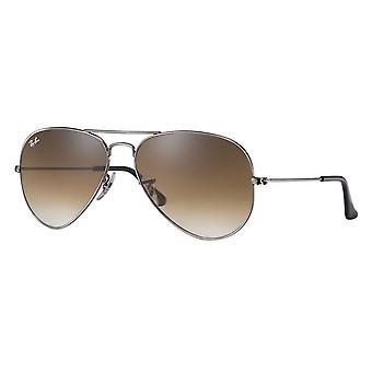 Ray-Ban Aviator Gradient Gunmetal Sunglasses - RB3025-004/51-58