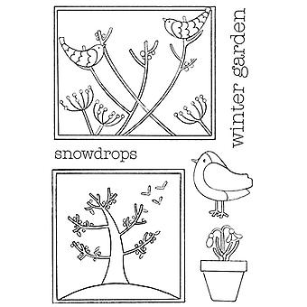 Personal Impressions Beth Hughes Winter Garden Clear Stamp Set