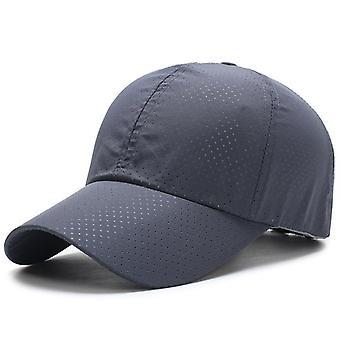 1pcs Baseball Cap Unisex Summer Solid Thin Mesh Breathable Sun Hat