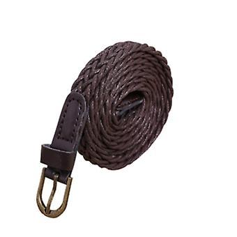 المرأة موجز محبوك كاندي ألوان جديلة حزام الإناث حزام لفستان، طول الحزام:105-110cm (القهوة)