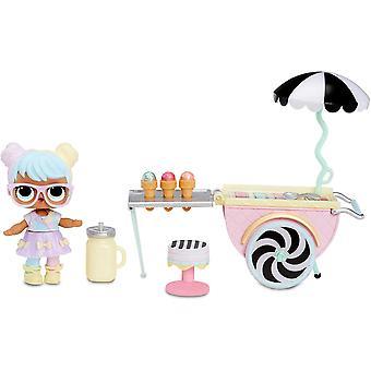 HanFei 564911E7C Möbel - Puppenmbel und Sammelfigur mit Zubehr Ice Cream Pop-Up mit Bon Bon, 10