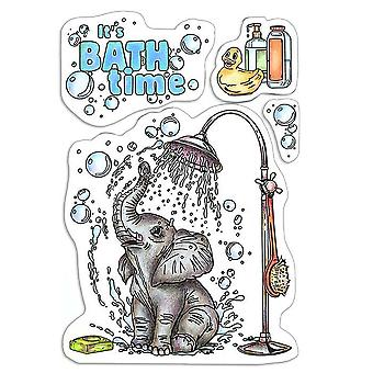 """Ciao Bella 4""""x6"""" Stamps - It's Bath Time"""