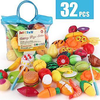HanFei 32 stuck Lebensmittel Spielzeug Obst Gemse Spielzeug Rollenspiele Pdagogisches Kchenspielzeug