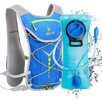 Hydration Backpack with Bladder 2L, BPA Free Hydration Bladder Bag, Breathable Lightweight Rucksack