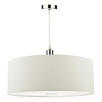 DAR RONDA Cylindrical 60cm Easyfit Pendant Light Porcelæn Hvid
