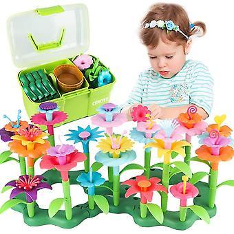 FengChun Blumengarten Spielzeug fr 3-6 Jhrige Mdchen, DIY Bouquet Sets mit Aufbewahrungskiste, Kunst