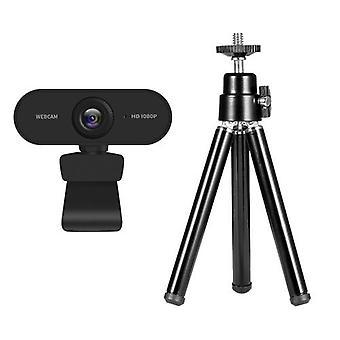 1080P 2MP HD Webcam + Portable Mini Webcam Tripod Phone Holder
