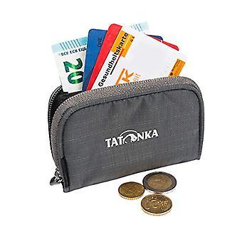 Tatonka Plain Wallet Small wallet with zipper in credit card format, 11 x 7 x 2 cm, titanium grey unisex