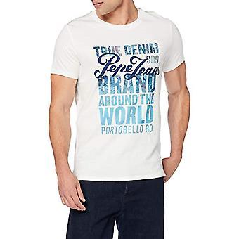 Pepe Jeans Niko T-shirt, White (Optic White 802), L arge Uomo