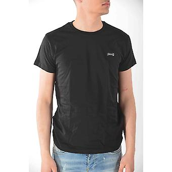 T-shirt short sleeves Black Schott men