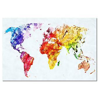 Tabelle bunte Weltkarte