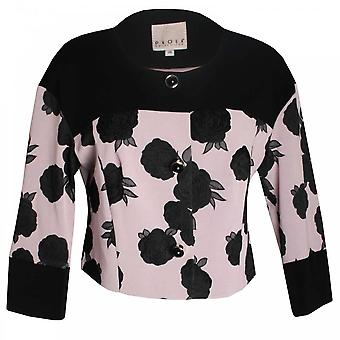 Paola Collection Long Sleeve Roses Design Box Jacket
