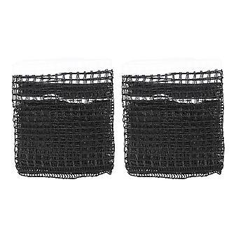 2pcs wiederverwendbare Outdoor-Tischtennis Ersatz Netz Nylon Regulierung Pong Netz ohne Post (schwarz)
