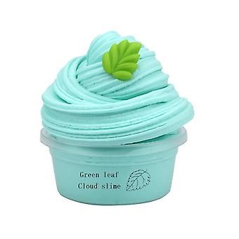 Fluffy Slime, Pure Color Clay With Fruit Charm, Litchi Durian, Dragon Fruit