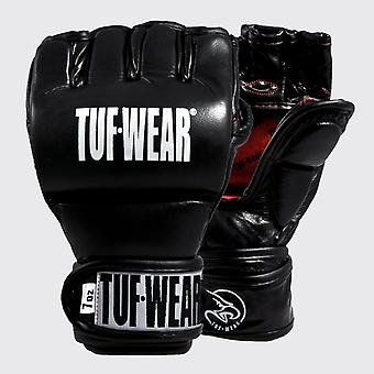 Tuf Wear Training Lederen Grappling Handschoen 7oz Zwart