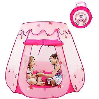 Princess Pop Up Tent voor peuters en meisjes (geen montage vereist), opvouwbaar en draagbaar met een