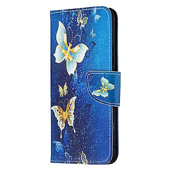Xiaomi Mi 11 Lite Case Pattern Magnetic Protective Cover Gold Butterfly