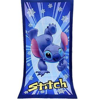 Disney cartoon 100% polyester floral stitch mickey mouse microfibre home bath beach towel swimming towel 70x140cm