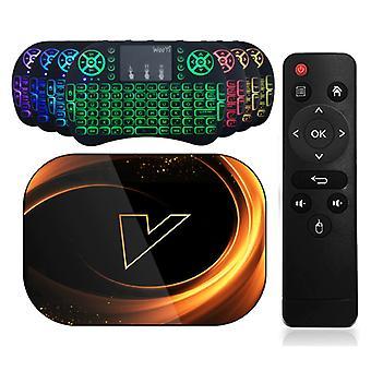 Vontar X3 TV Box Media Player Android 9.0 Kodi with Wireless RGB Keyboard - Bluetooth 4.0 - 8K - 4GB RAM - 128GB Storage