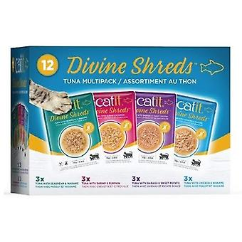 Catit Divine Shreds Tuna Multipack (Cats , Cat Food , Wet Food)