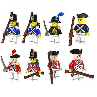 8 pezzi Imperial Navy Soldier Series Assemblato Block Toys