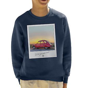Citroen 2CV Önskar att du var här Foto Kid's Sweatshirt
