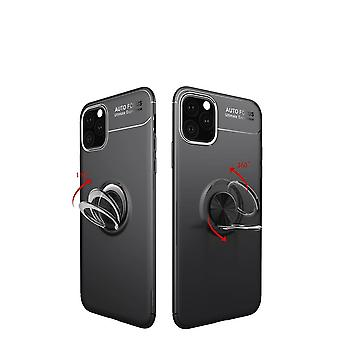 iPhone 11 skal med Finger Ring och inbyggd plåt - Svart