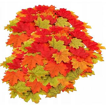 150 Artificial Autumn Pieces Maple Leaf Maple Leaf Autumn Leaves Like A Wall Cushion Door Sign Party Wedding Decoration Christmas